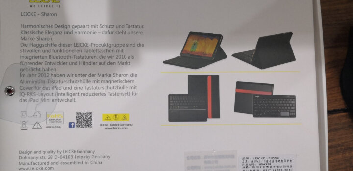 德国莱克ipad蓝牙键盘苹果2018pro11/ /12.9/ipad9.7平板电脑保护套外接键盘 适用15/17版ipad pro12.9英寸经典黑 晒单图