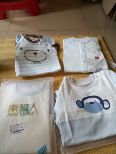 南极人(Nanjiren) 【20款可选】南极人婴儿纯棉内衣套装新生儿衣服宝宝睡衣 森林小熊-浅粉 90CM 晒单图