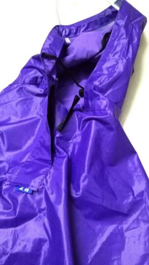 正招(kendo)户外骑行成人电动电瓶摩托车雨衣男女式单人雨披加大加厚 P1H紫色4XL大帽檐 晒单图