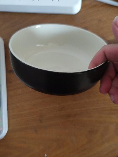 亿嘉IJARL 剑林创意日韩欧式陶瓷器餐具小汤碗大米饭碗6英寸面碗家用碗甜品碗 北欧印象 黑色 晒单图