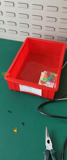 齐鲁安然 加厚塑料周转箱 零件盒 螺丝盒 工具箱套装 电子元器件分类盒 养殖盘中转箱塑料筐 黄色盒 X4#  L104 长300*宽200*高80mm 晒单图