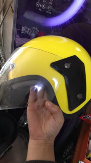 野马(YEMA)6607电动摩托车头盔 冬季男士电瓶车头盔 女士半盔 安全帽 四季通用 亮黑 配防雾镜片(均码) 晒单图