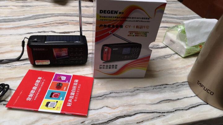 德劲(DEGEN) CY-1户外运动应急便携无线蓝牙音响插卡音箱收音机半导体 本款+插座转换器+8G TF卡 晒单图