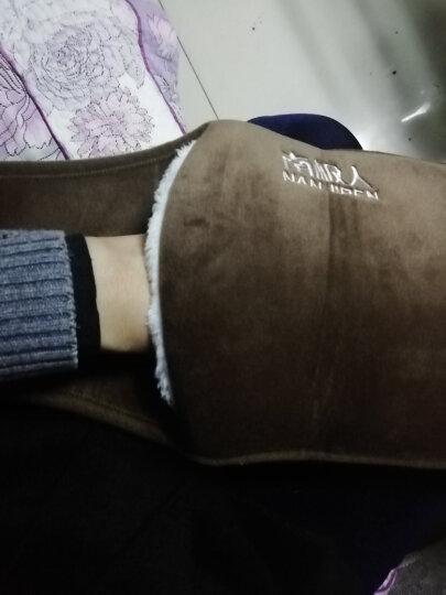 南极人 充电暖腰带 已注水 暖腰宝 毛绒护腰带 透气保暖腰带 四季通用 保暖 男女通用  咖啡色 晒单图
