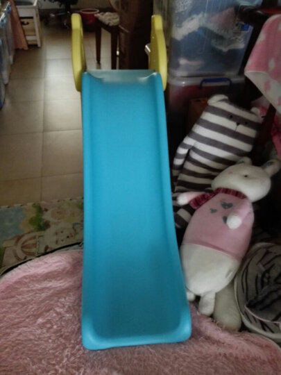 诺澳 儿童乐园室内滑梯家用多功能滑滑梯宝宝组合滑梯秋千带篮球架幼儿园玩具 小毛驴款/蓝黄色(单滑梯) 晒单图