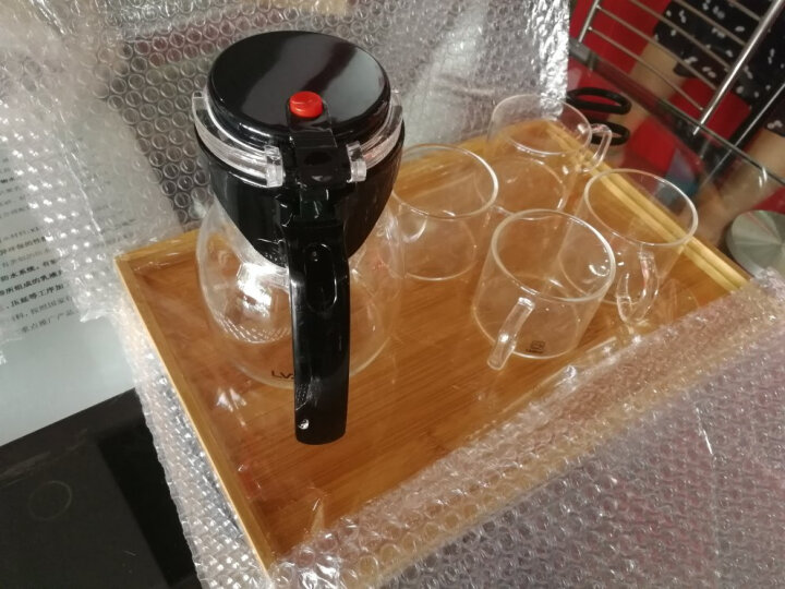 绿珠lvzhu 1200ml玻璃茶具整套一壶四杯一茶盘 泡茶壶煮茶器加厚耐热耐高温烧水过滤茶壶办公功夫茶杯Q722 晒单图