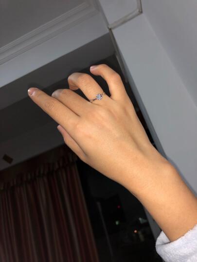 我爱钻石网 钻戒白18K金钻石戒指女款/铂金求婚结婚戒指六爪钻戒定制/玫瑰情事 【告白示爱】50分效果20分FG色 双倍显钻 晒单图