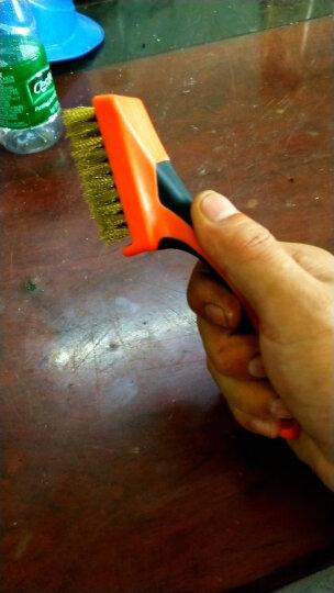 拓为(Tactix) 315011 铜丝刷 加密铜刷 金属表面清洁刷金刚钢丝刷工业刷子 迷你刷 小钢丝刷 晒单图