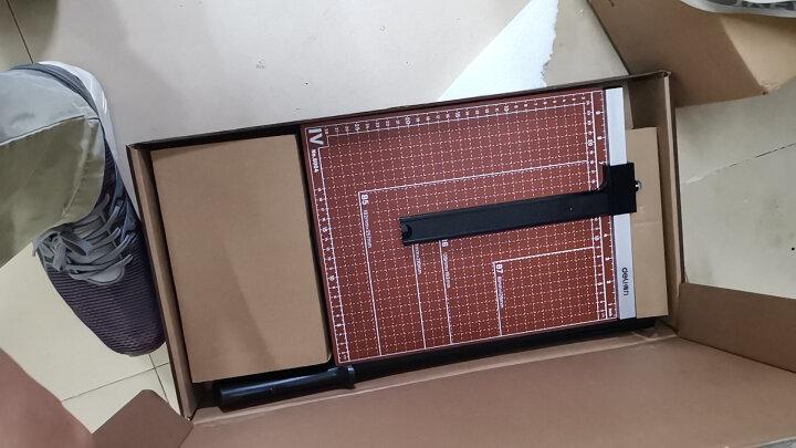 得力(deli) 木质切纸刀 手动裁纸刀切纸机裁纸机切刀相片刀闸刀铡刀裁剪刀 可切B3纸/530*410mm 8001 晒单图