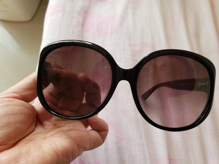古驰(GUCCI)太阳镜女 墨镜 渐变灰镜片黑色镜框GG0080SK 002 61mm 晒单图