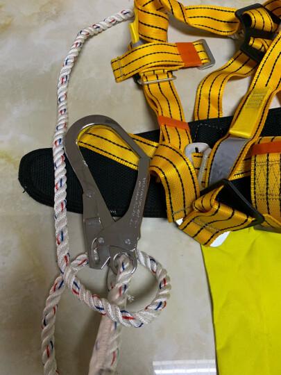 Golmud 户外建筑高电工空作业双背半身式保险大钩劳保用品安全带安全绳AQD827 E18 晒单图
