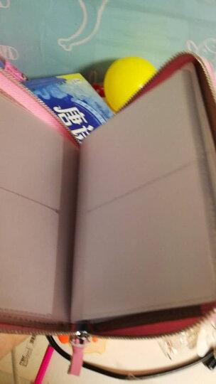 度兰尼真皮女士卡包女超薄短款男士卡夹卡包零钱女银行卡片包韩版拉链牛皮驾驶证套 K16浅粉色40卡位 晒单图