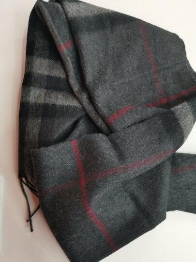 BURBERRY 巴宝莉 中性款炭灰色格纹山羊绒长形围巾 39137311 晒单图