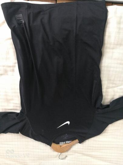 耐克 Nike Pro 男子 紧身衣短袖运动T恤第二代 健身衣 网眼布拼接826592-687深红 M 晒单图