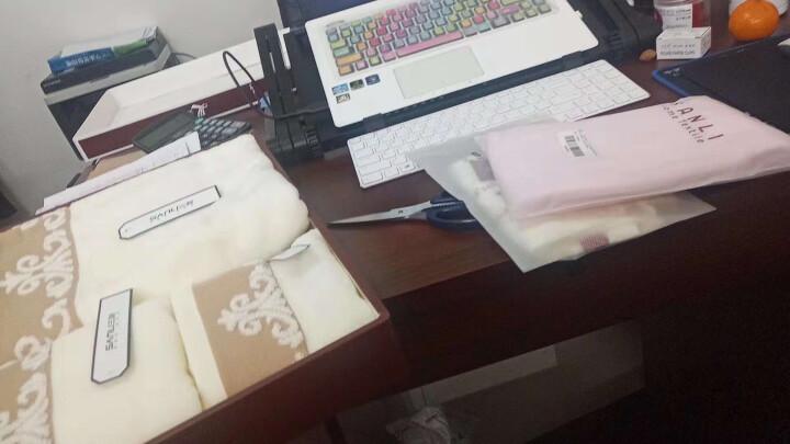 三利 纯棉缎档图腾纹样 方巾毛巾浴巾三件套 礼盒装 米色 晒单图
