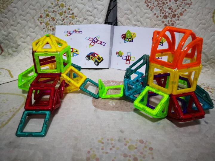 铭塔128件套磁力片积木 儿童玩具男女孩磁性棒百变提拉建构片吸铁石 哒哒搭智力收纳盒装 晒单图