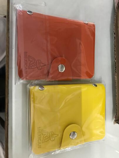 稻草人女卡包多卡位2019新款男士证件包PU名片包银行卡包卡片包卡夹24卡位买一送一 玫红色 晒单图