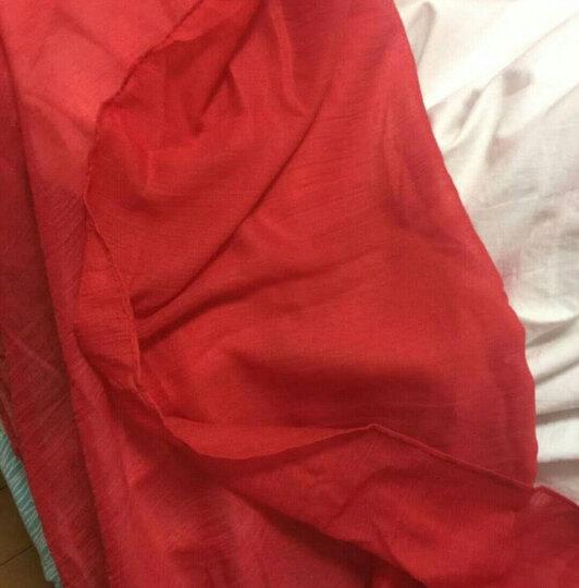 百尚意特 女士百搭休闲长款围巾 春夏秋冬四季通用棉麻披肩 红色 晒单图