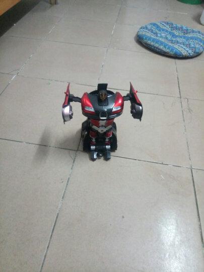 儿童遥控车汽车1:14变形玩具机器人一键变形可充电男孩模型 布加迪黑红【双电玩60分钟】+送儿童手表+遥控电池 晒单图