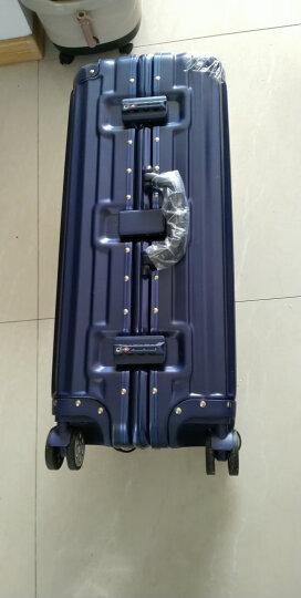 纯奢拉杆箱铝框万向轮行李箱学生皮箱子旅行箱20/22/24/26/29英寸男女登机密码箱 摩卡棕 22英寸-中短途出差2-5天推荐 晒单图