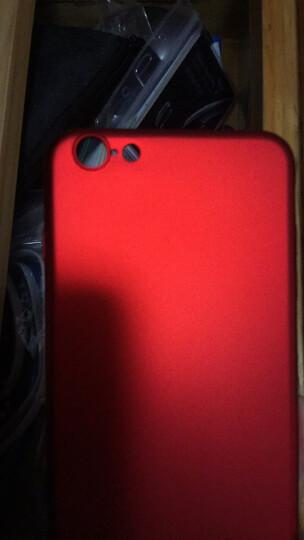 驰界 苹果6s手机壳女超薄全包防摔磨砂时尚潮男卡通指环iphone6s plus创意可爱硬壳保护套 小熊-红色-送钢化膜 6S Plus 5.5英寸 晒单图