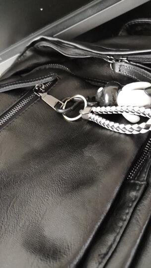 新款双肩包女韩版新款潮流背包双拉链女包休闲街头旅行背包时尚辣妈上班背包 黑色 晒单图