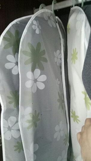 透明挂衣袋衣物防尘罩大衣防尘袋西装袋子衣服罩衣服套衣罩防尘套 绿色花 中号(60*110cm) 晒单图