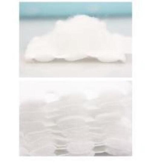 悠珂思(ukiss)轻柔花语双面化妆棉200片/包(卸妆、卸甲、拍水、敷面膜、双面厚款天然棉) 晒单图