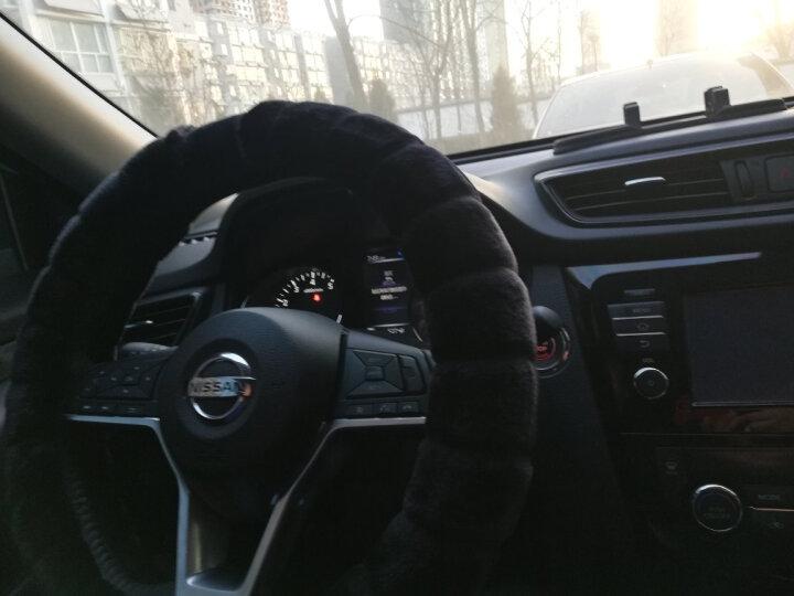 粤野冬季毛绒汽车方向盘套男女适用奥迪宝马 奔驰大众日产丰田本田福特别克现代起亚别克长城把套 经典黑 带车标款 比亚迪 F3 G3G5G6 L3秦 唐 宋S6S7 晒单图