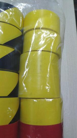 驰丹卡(CHIDanKa) PVC彩色警示胶带贴地安全地面标识警戒线地面划线地板胶带黑黄10CM 蓝4.8CM*16米*6个(一桶96米) 晒单图