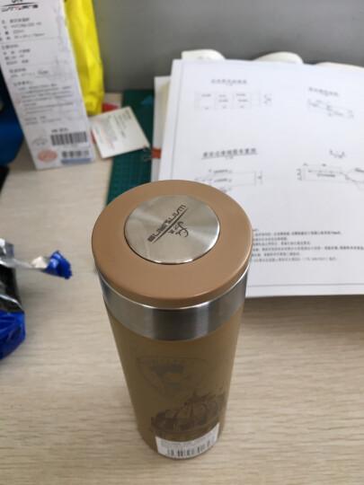 万象(WANXIANG)H5 220ML保温杯不锈钢男女士便携水杯 时尚直身杯 棕黄色 晒单图