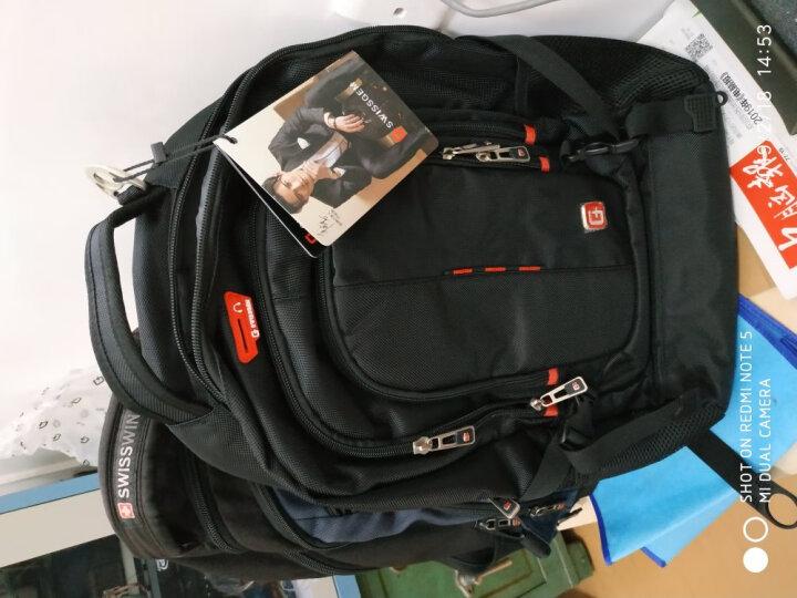 SVVISSGEM双肩包  15.6英寸防水多功能笔记本电脑包男女学生书包出差旅游背包SA-9962 黑色 晒单图