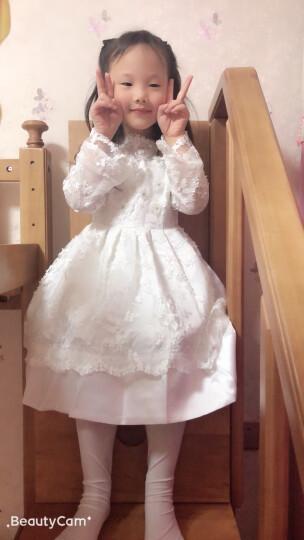 EYAS女童公主裙花童礼服蓬蓬裙夏连衣裙六一儿童节演出服学生钢琴表演服主持人走秀礼服婚纱裙 白色 160cm现货 晒单图