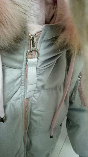 貝洛琪羽绒服女中长款加肥加大码女装金丝绒加厚宽松连帽羽绒外套 粉色 S 建议95-115斤左右 晒单图