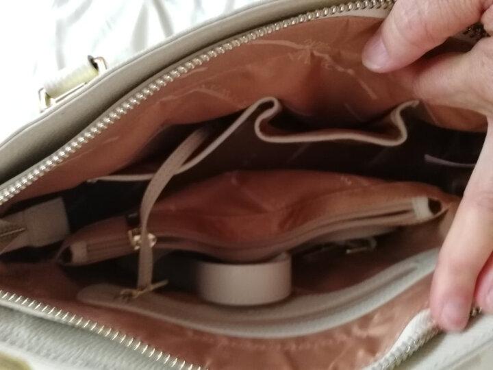 旗王女士包包女包2020新款时尚真皮贝壳包品牌斜挎包女手提包皮包 经典黑小款 晒单图