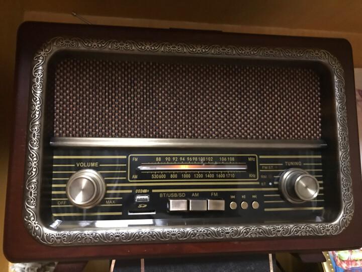 伯林爵(BOHLINJA) 老式古典收音机FM立体声调频广播双喇叭复古蓝牙音响老人怀旧礼品家用台式 晒单图