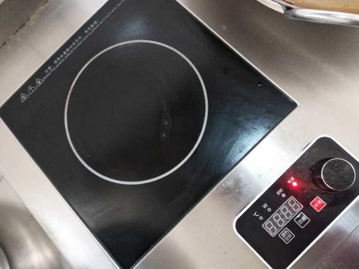 乐创(lecon)电磁炉商用多头大功率3500W5000W双头组合电磁炉商用台式凹面多眼煲仔炉 5000W不锈钢平面 晒单图