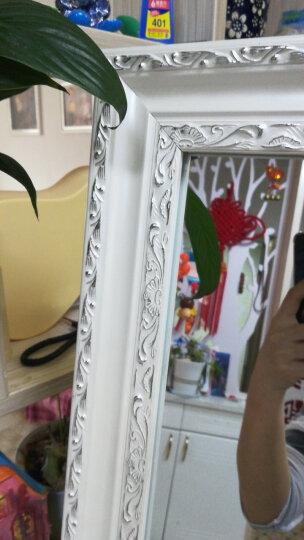 美潮 实木穿衣镜试衣镜子全身落地梳妆镜壁挂镜 欧式银花45x158-送挂钩-可壁挂 43*158 晒单图