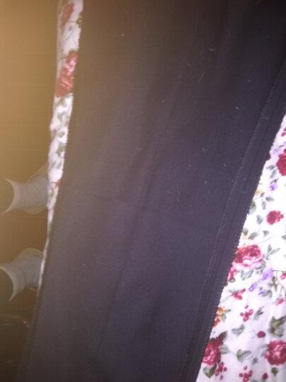 蜀夕羽绒裤女外穿中高腰抗寒打底裤女修身小脚休闲双面加绒加厚保暖长棉裤 羽绒裤黑色 L(2.1-2.2尺) 晒单图