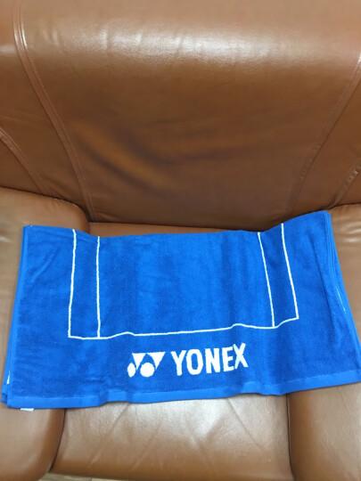 尤尼克斯YONEX运动毛巾全棉柔软透气吸汗毛巾浴巾 AC1206CR蓝色 晒单图