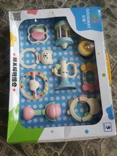 谷雨婴儿玩具0-1岁新生儿可咬牙胶摇铃手摇铃 3-6-12个月幼儿宝宝床上玩具罐装盒装摇铃 优惠组合2(盒装9只摇铃+婴儿健身架) 晒单图
