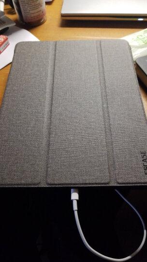 ESCASE 苹果2017/2018新款 通用保护套/壳9.7英寸 平板电脑ipad皮套 多功能/有按键/休眠 防摔硅胶壳 铂光金 晒单图