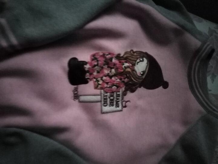 箐箐花保暖内衣女加绒加厚时尚外穿秋衣秋裤套装 606加绒套装 150/XL身高145-155 晒单图