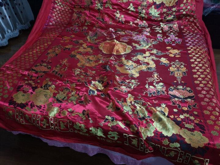 恒源祥集团彩羊家纺 丝绸织锦缎婚庆被套被面 绸锻被罩 结婚喜庆被龙凤百子图双人被套 红色 200*230cm 晒单图