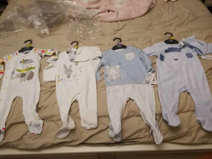 mothercare英国婴儿连体衣长袖春秋新生儿衣服男宝宝爬服送婴儿帽 MA765 6-9月(73/44) 晒单图