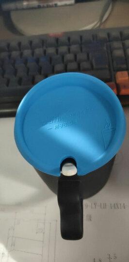 可以放照片的变色情侣杯子刻字印照片魔法杯定做图片 diy生日礼物 心把黑色骨瓷 杯子+盖+勺+盒子 晒单图