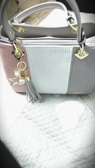 DOODOO包包2019年新款女包 时尚大容量百搭手提包韩版单肩包休闲女士斜挎包 灰色大号 7126 晒单图