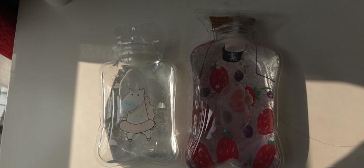 韩国卡通迷你热水袋注水充水暖水袋防爆便携透明小号暖手宝 小动物系列--小胖鱼 晒单图