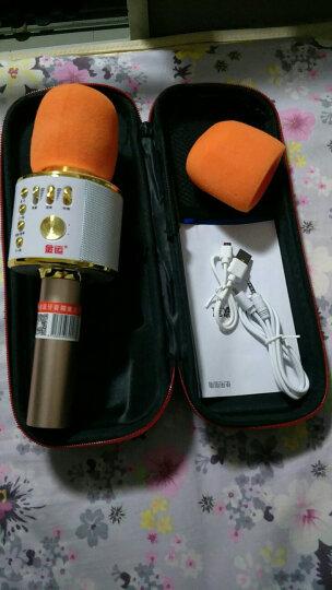 金运 手机麦克风全民无线k歌神器声卡蓝牙直播话筒 土豪金+收纳盒 晒单图