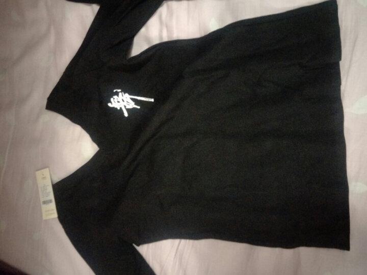 艾舞戈 儿童舞服套装夏V领女童棉舞蹈服装短袖文化衫练功服 黑色-长袖+长裤 150码 (身高150-160cm) 晒单图